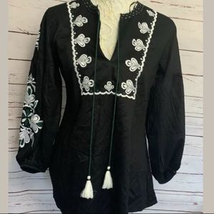 NWT World Market Boho Ethnic Mexican Embroidered